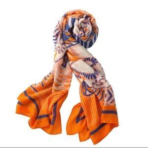 NWOT Union Square Scarf - Fresh Tangerine Print
